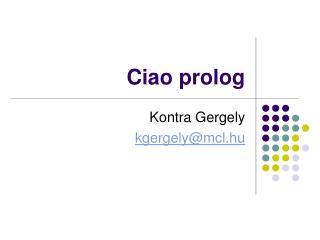 Ciao prolog