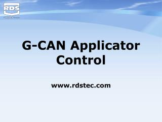 G-CAN Applicator Control rdstec
