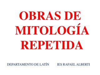 DEPARTAMENTO DE LATÍNIES RAFAEL ALBERTI