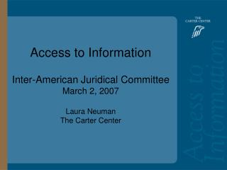 Access to Information: Bolivia