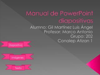 Manual de PowerPoint   diapositivas