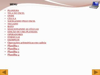 PLANILHA TELA DO EXCEL ONDE CÉLULA NAVEGANDO PELO EXCEL TECLADO RATO SELECIONANDO AS CÉLULAS