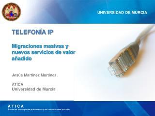 Jes�s Mart�nez Mart�nez ATICA Universidad de Murcia