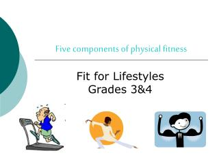 Five components of physical fitness