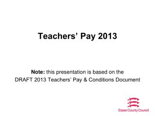 Teachers� Pay 2013