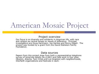 American Mosaic Project
