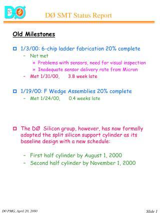 Old Milestones