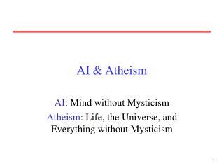 AI & Atheism