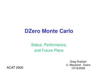 DZero Monte Carlo