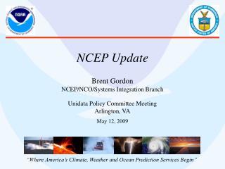 NCEP Update