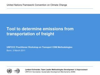 Tool to determine emissions from transportation of freight