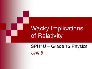 Wacky Implications of Relativity