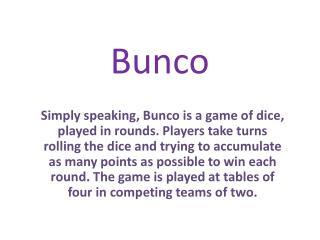Bunco