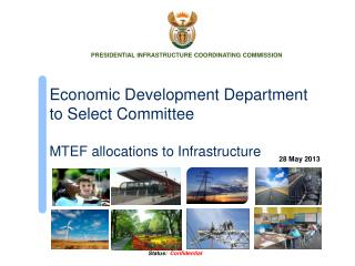 Economic Development Department to Select Committee MTEF allocations to Infrastructure
