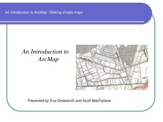 An Introduction to ArcMap : Making simple maps