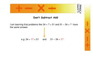 Don't Subtract Add