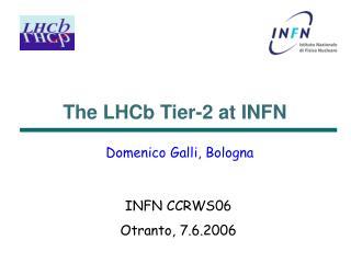 The LHCb Tier-2 at INFN