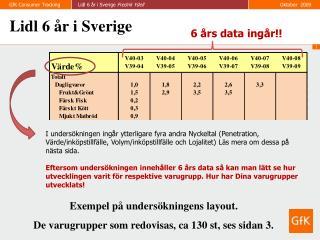Lidl 6 år i Sverige