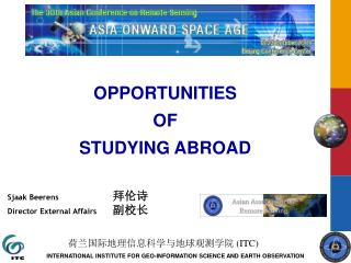OPPORTUNITIES  OF  STUDYING ABROAD