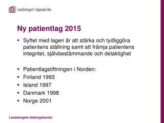 Ny patientlag 2015