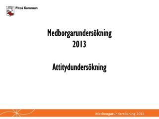 Medborgarundersökning  2013 Attitydundersökning