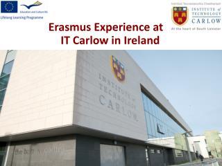 Erasmus Experience at IT Carlow in Ireland