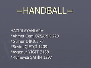 =HANDBALL=