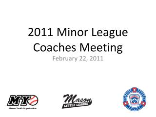 2011 Minor League Coaches Meeting
