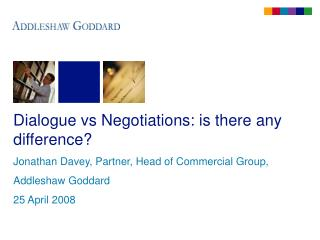 Dialogue vs Negotiations: is there any difference?