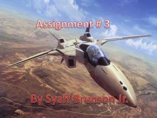 Assignment # 3