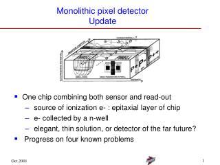 Monolithic pixel detector Update