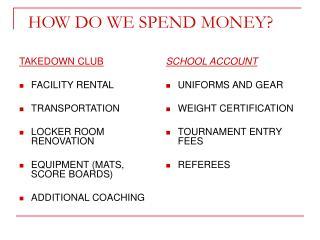 HOW DO WE SPEND MONEY?