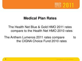 Medical Plan Rates