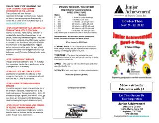 Bowl-a-Thon  Nov. 9 - 12, 2012