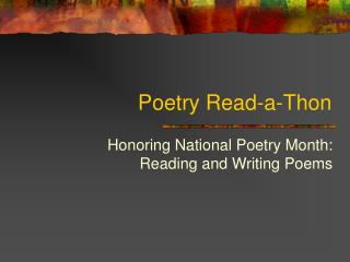 Poetry Read-a-Thon
