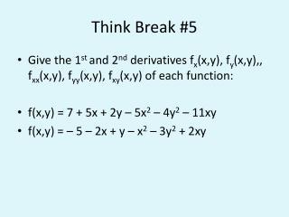 Think Break #5