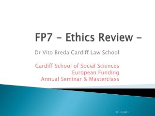FP7 - Ethics Review -