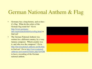 German National Anthem & Flag