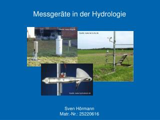 Messger te in der Hydrologie