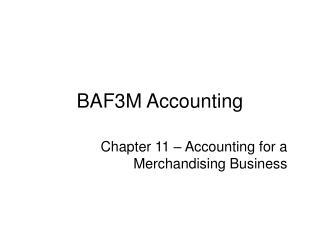 BAF3M Accounting