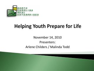 Helping Youth Prepare for Life