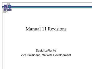 Manual 11 Revisions