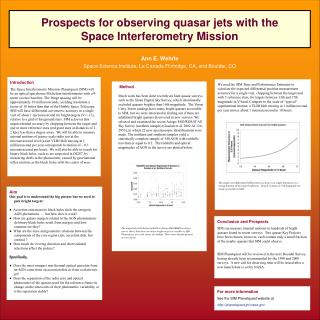 Prospects for observing quasar jets with the  Space Interferometry Mission
