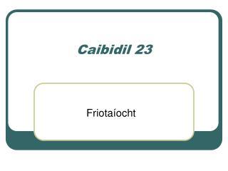 Caibidil 23