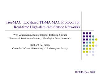 TreeMAC: Localized TDMA MAC Protocol for Real-time High-data-rate Sensor Networks