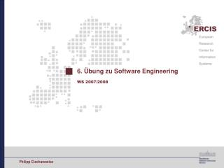 6. Übung zu Software Engineering