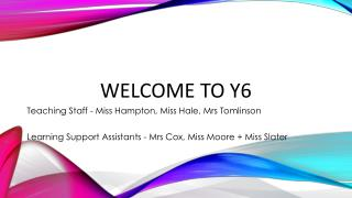 Welcome to Y6