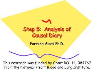 Step 5:  Analysis of Causal Diary