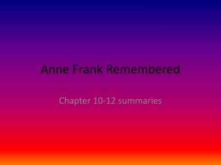 ANNE FRANK DAY