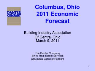 Columbus, Ohio 2011 Economic Forecast